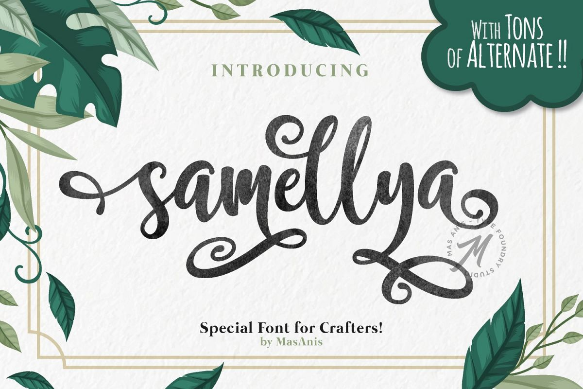 Samellya - Crafter's Font! example image 1