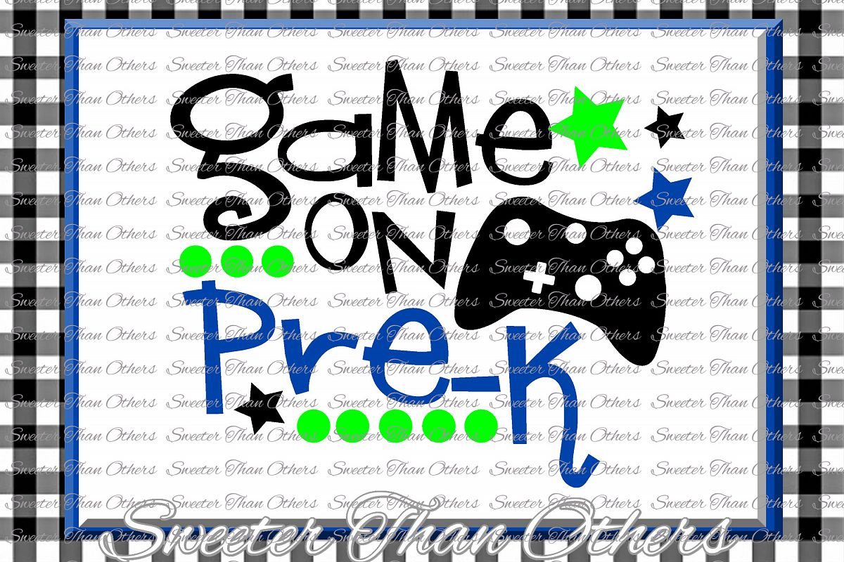 Pre K SVG Pre Kindergarten game on cut file Last Day of Scho example image 1