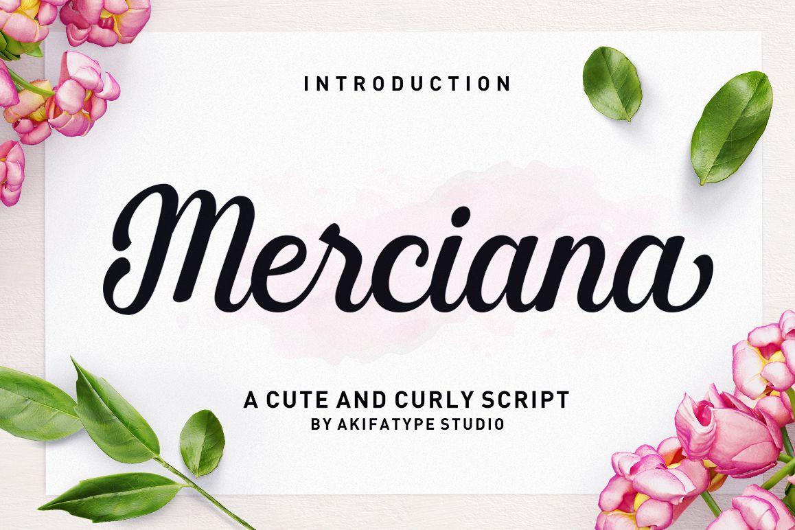 Merciana Script example image 1