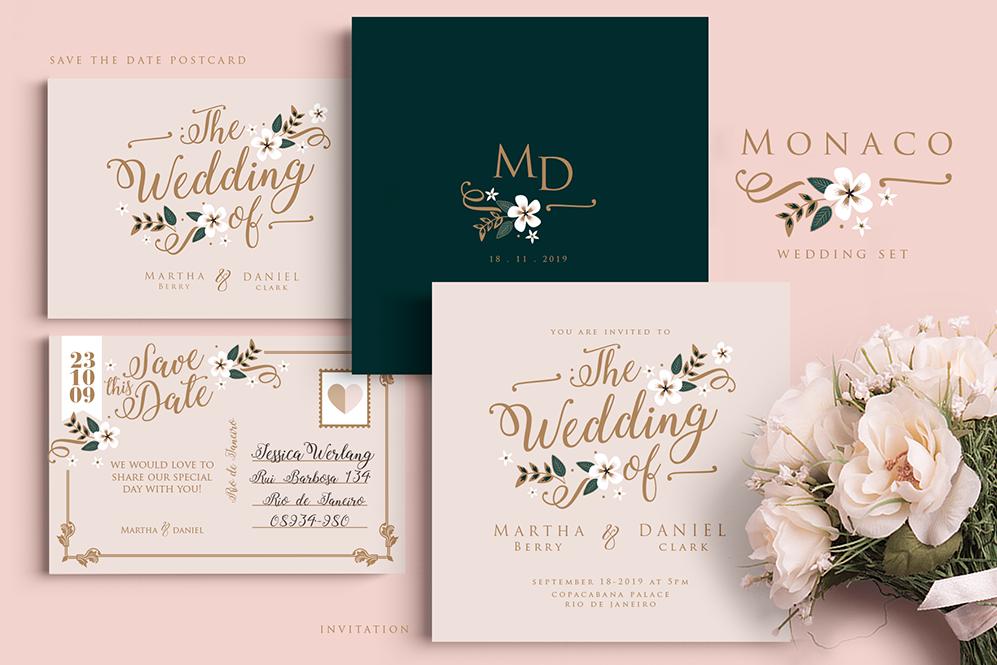 Monaco Wedding Set example image 1