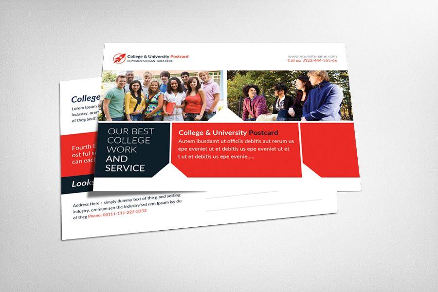 College & University Postcard Template example image 1