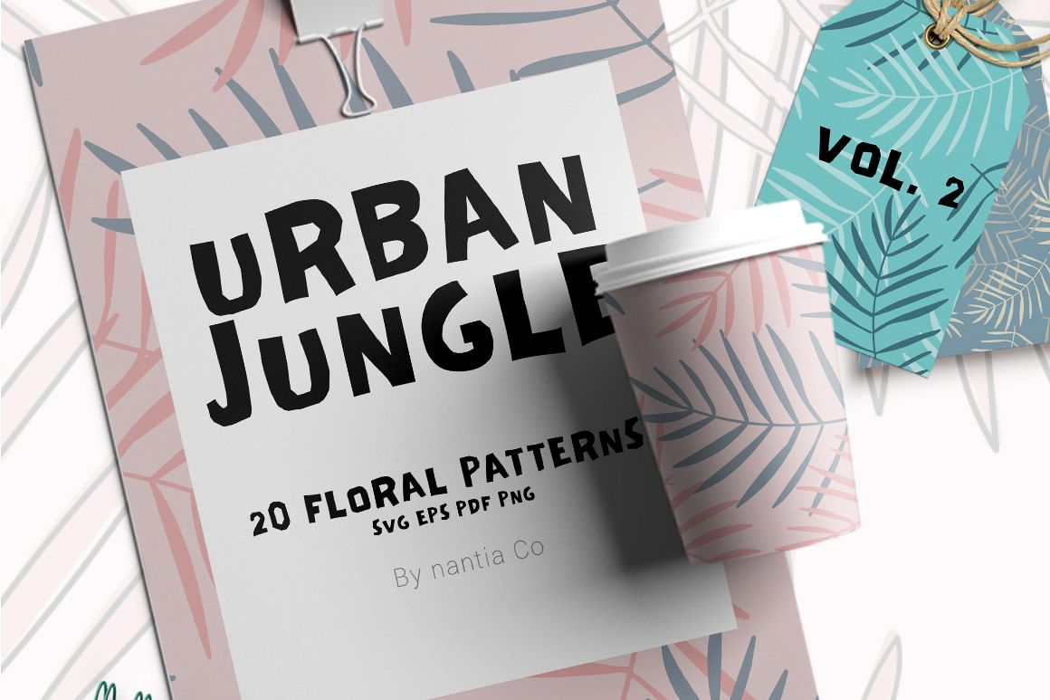 20 Urban Jungle Pattern Vol.2 example image 1