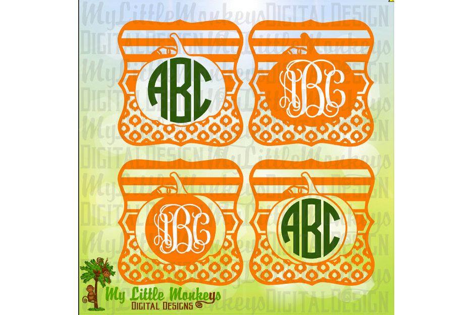 Square Label Pumpkin Monogram Base example image 1