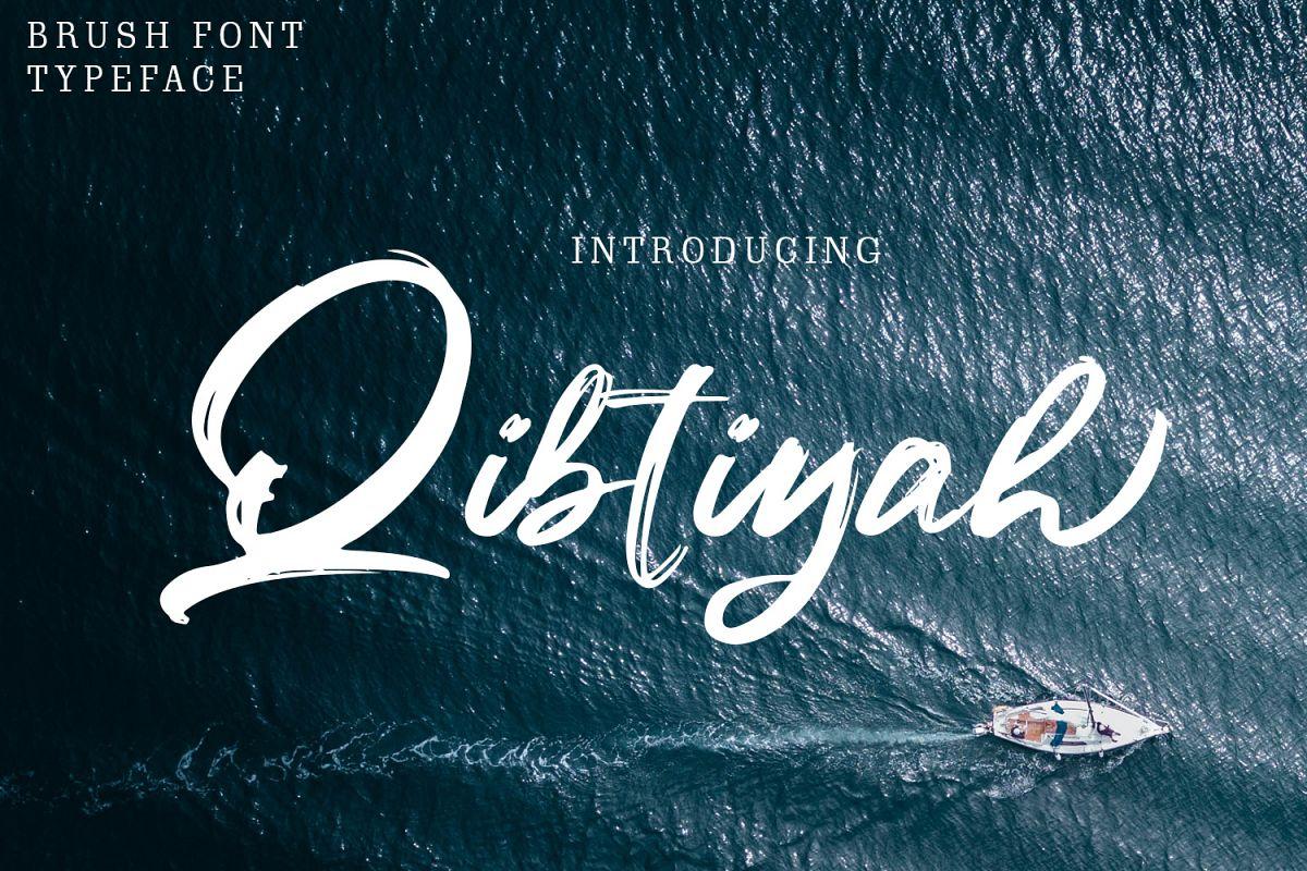 Qibtiyah Brush Font example image 1