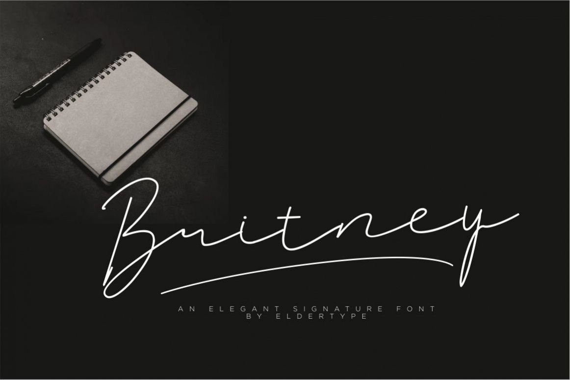 Britney Signature Font example image 1