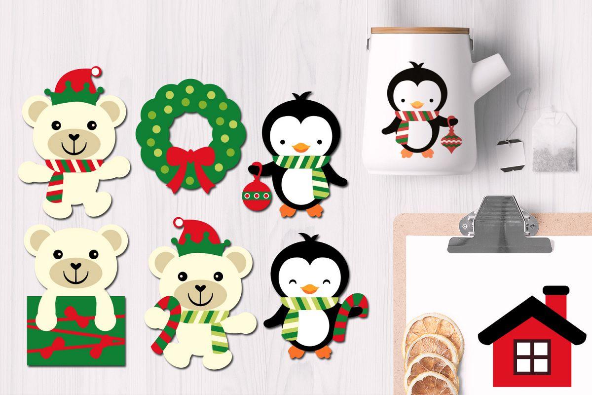 Christmas Polar Bears and Penguins example image 1