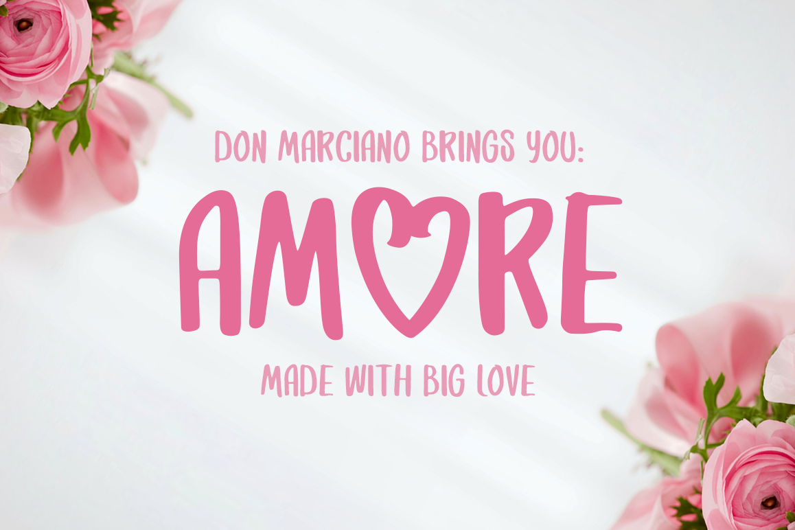 Amore Strong Lovable Font example image 1