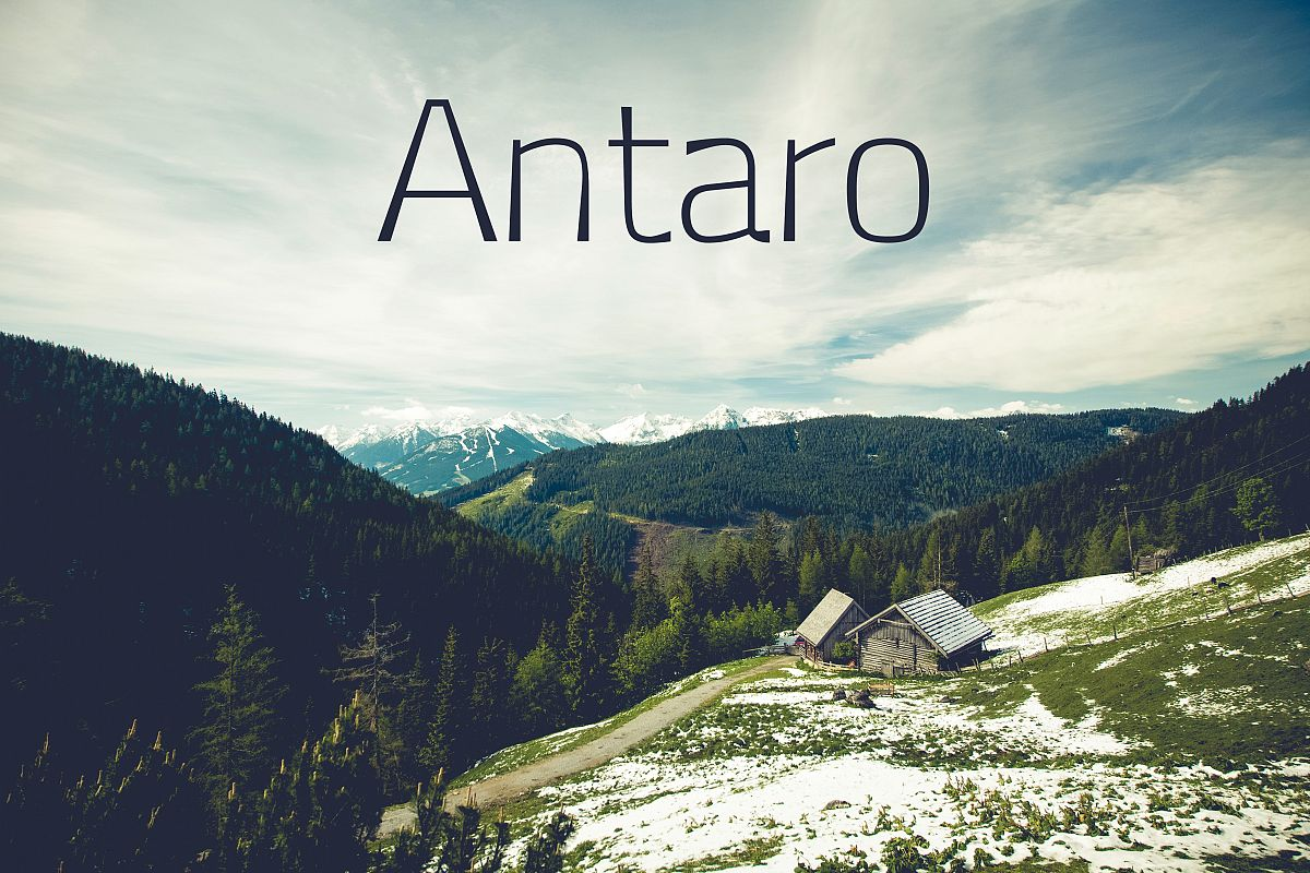 Antaro Font example image 1