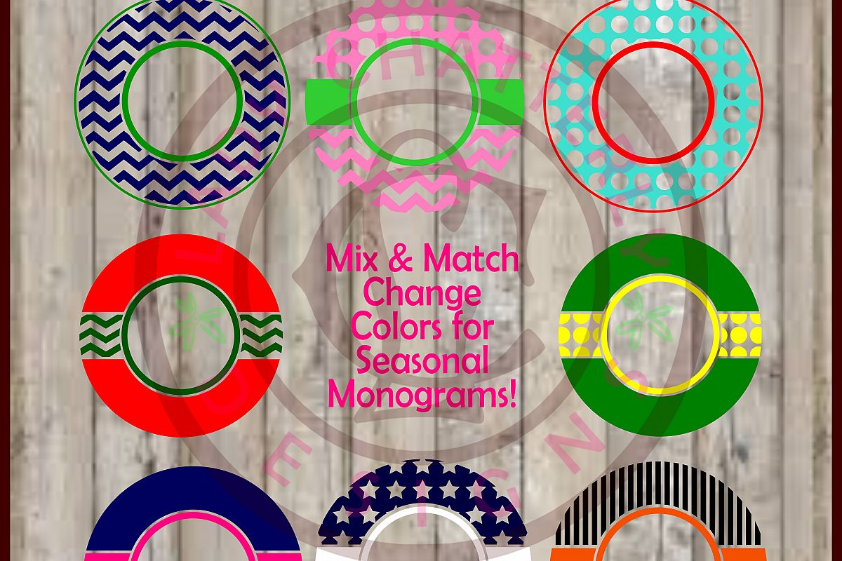 LC049 Mix and Match Monogram Frames example image 1