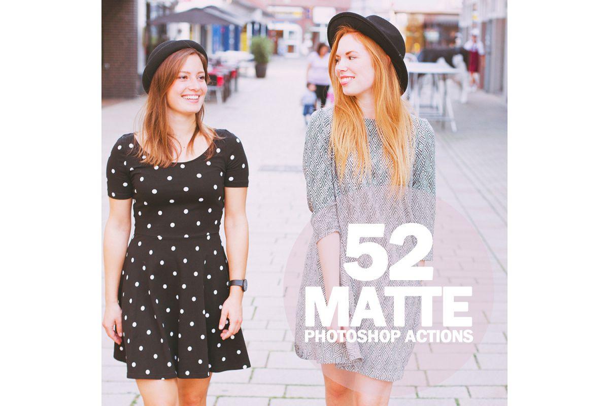52 Matte Photoshop Actions Collection (Action for photoshop CS5,CS6,CC) example image 1