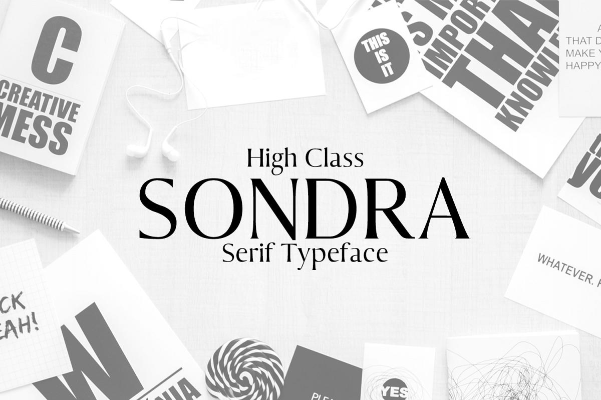 Sondra Serif Typeface example image 1