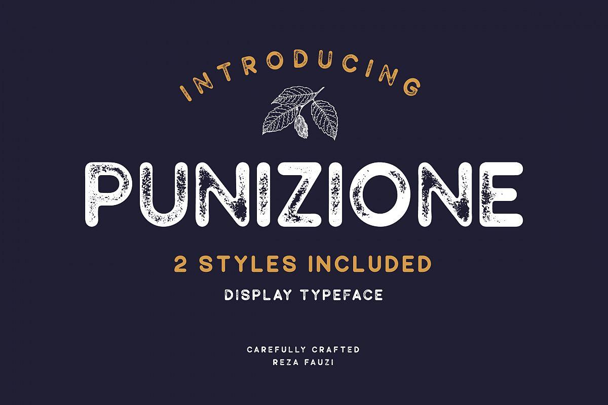 Punizione - Sans Vintage Font example image 1
