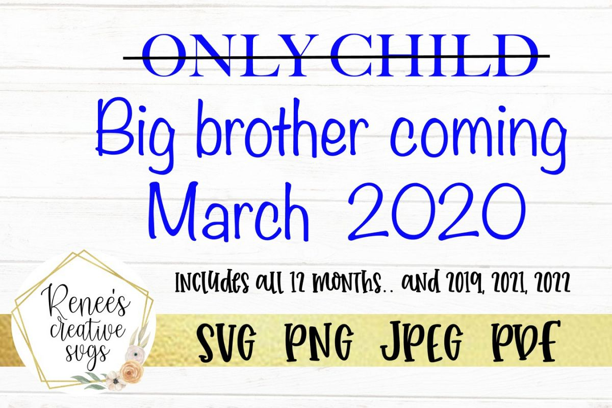 Only child, Big brother | SVG Cutting File example image 1