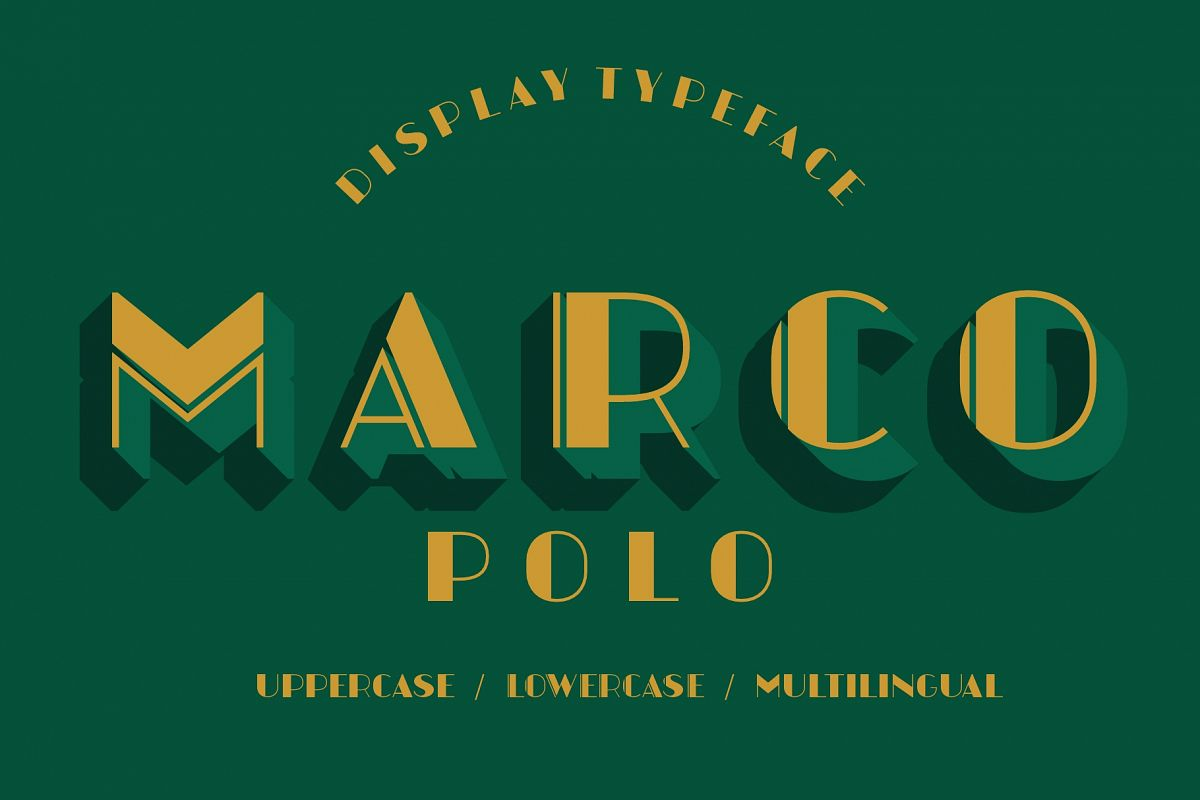 Marcopolo Display Font example image 1