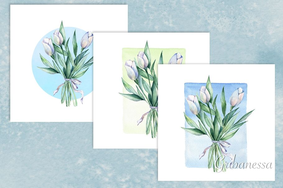 Bouquet. Watercolor example image 1