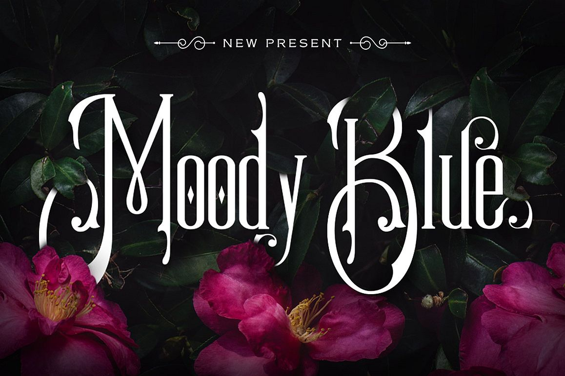 Moody Blue Typeface example image 1