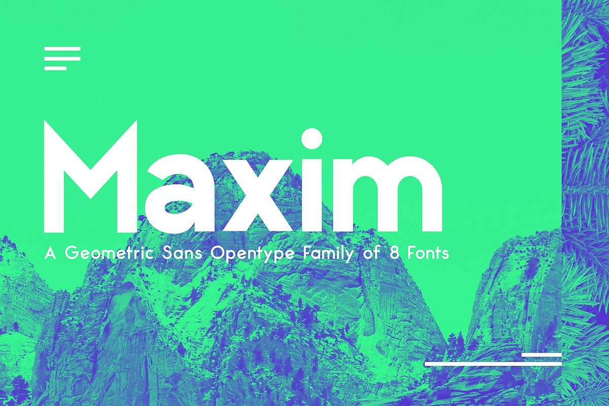 Maximus Sans - A Geometric Sans family of 8 Fonts example image 1