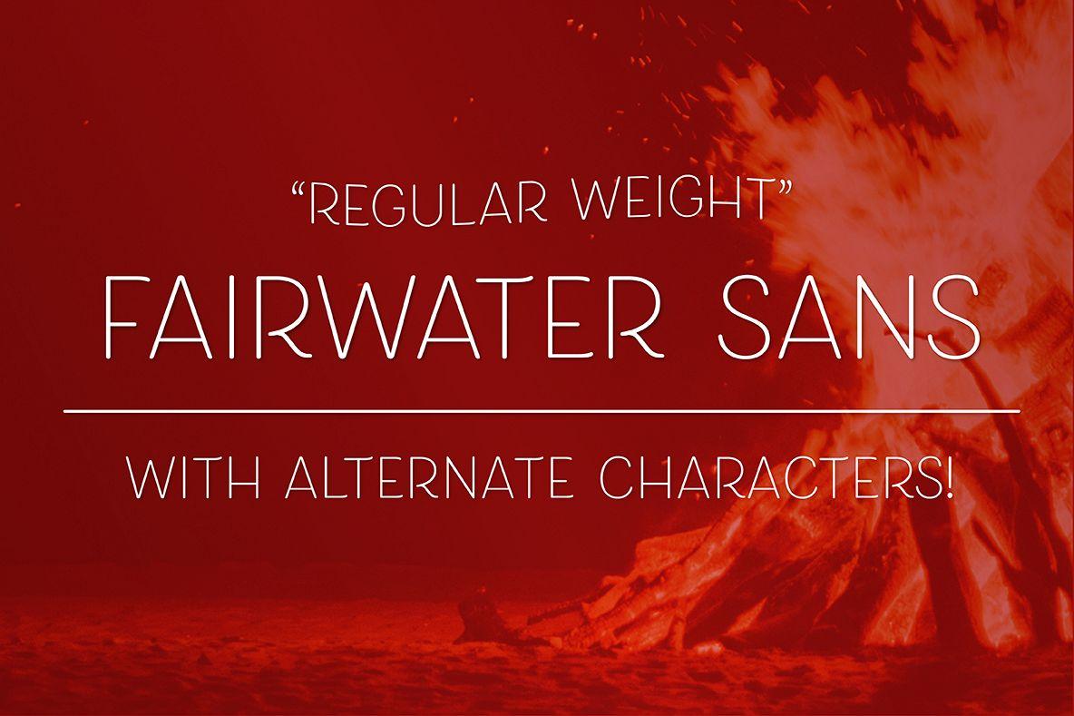 Fairwater Sans Regular example image 1