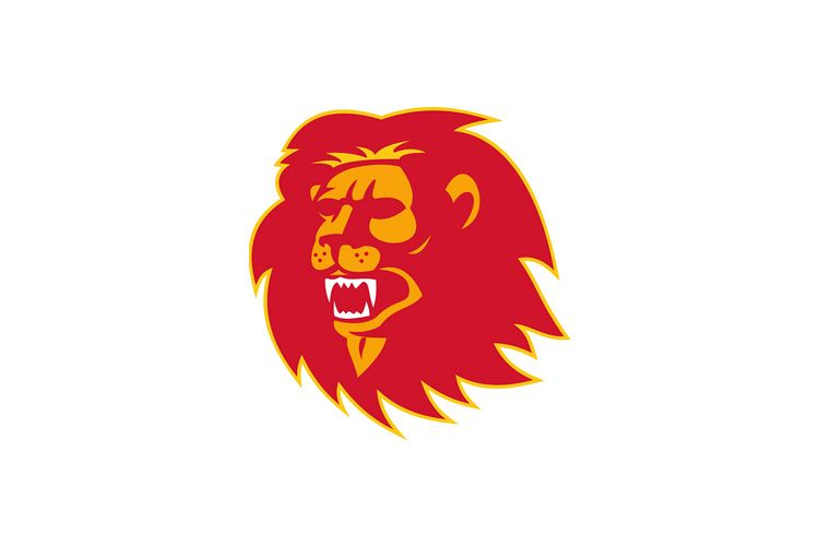 angry lion head roaring example image 1