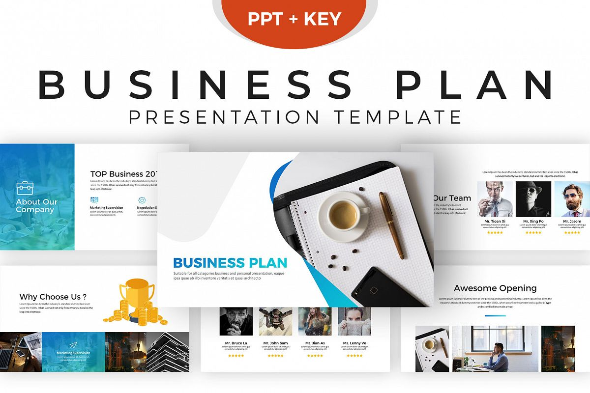 template for business plan presentation