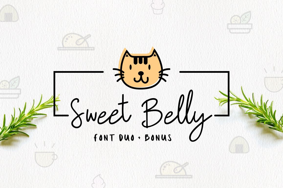 Sweet Belly | Font Duo + Bonus example image 1