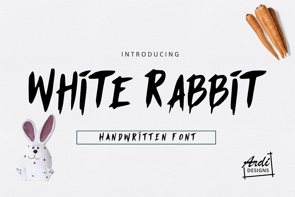 White Rabbit Font example image 1