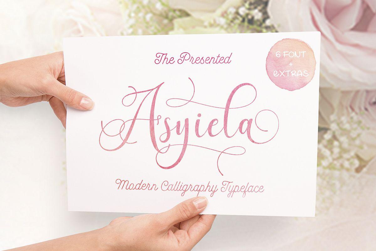 Asyiela Script Font Bundle example image 1