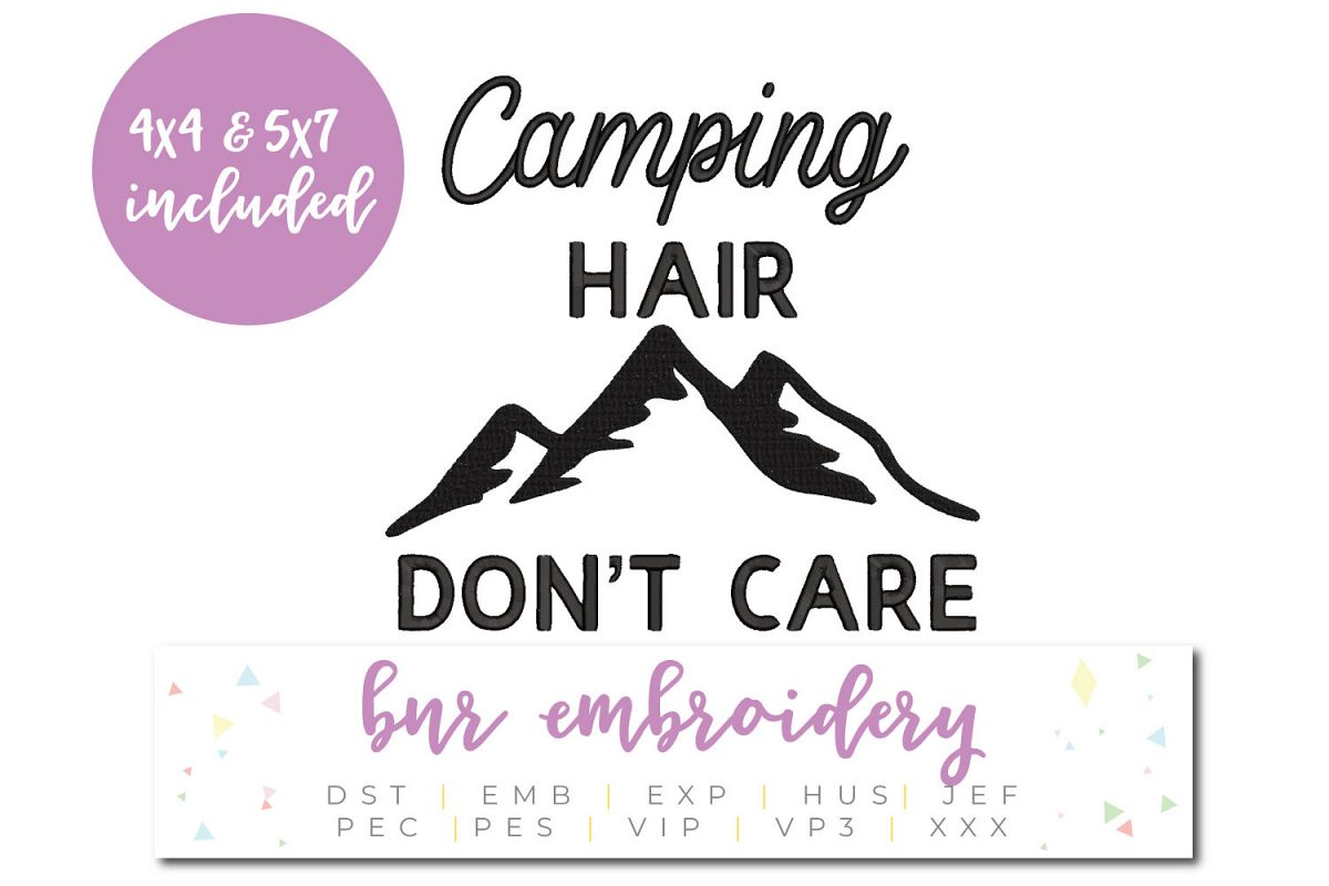 Camping Machine Embroidery Design, Adventure Embroidery example image 1