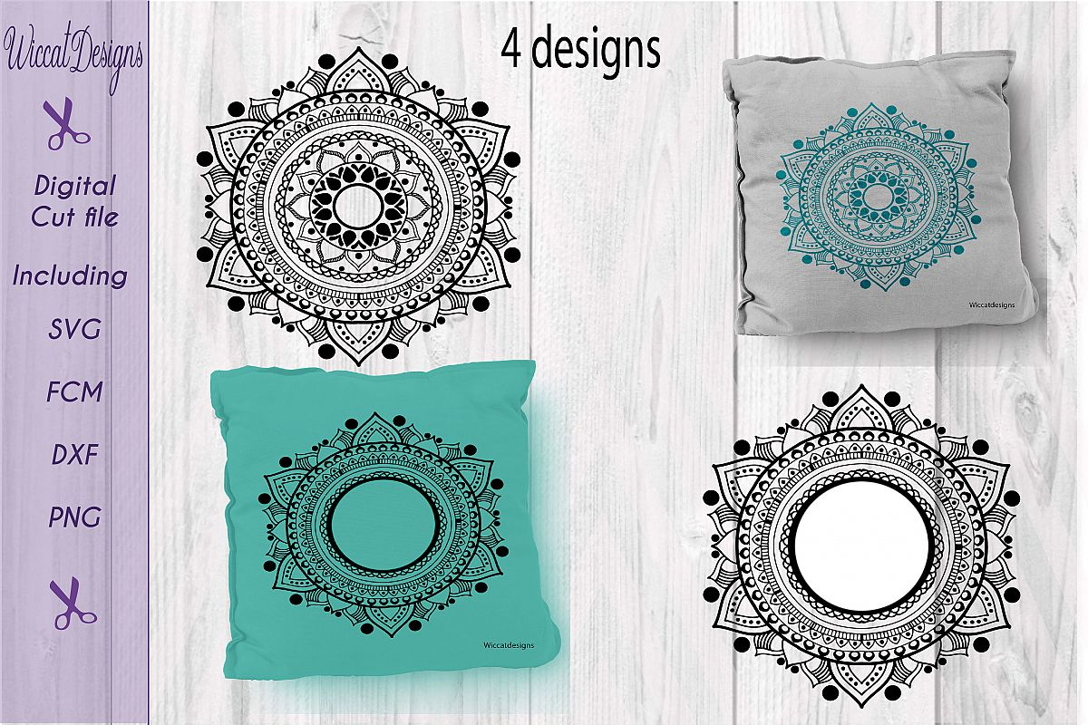 Mandala, zentangle svg, doodle svg, Monogram svg, example image 1