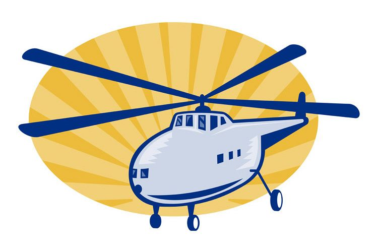 Retro style helicopter or chopper example image 1