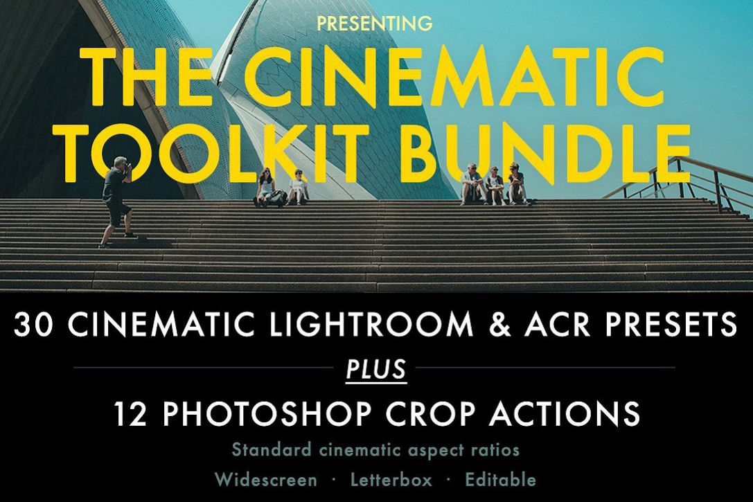 Cinematic Aspect Ratio PS Action & Lightroom Presets example image 1