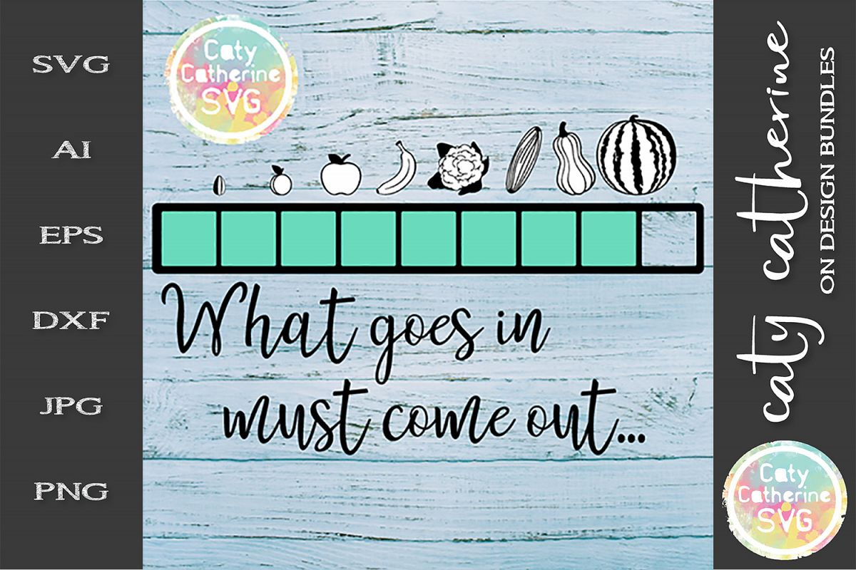 What Goes In Must Come Out Pregnancy Progress Bar SVG example image 1