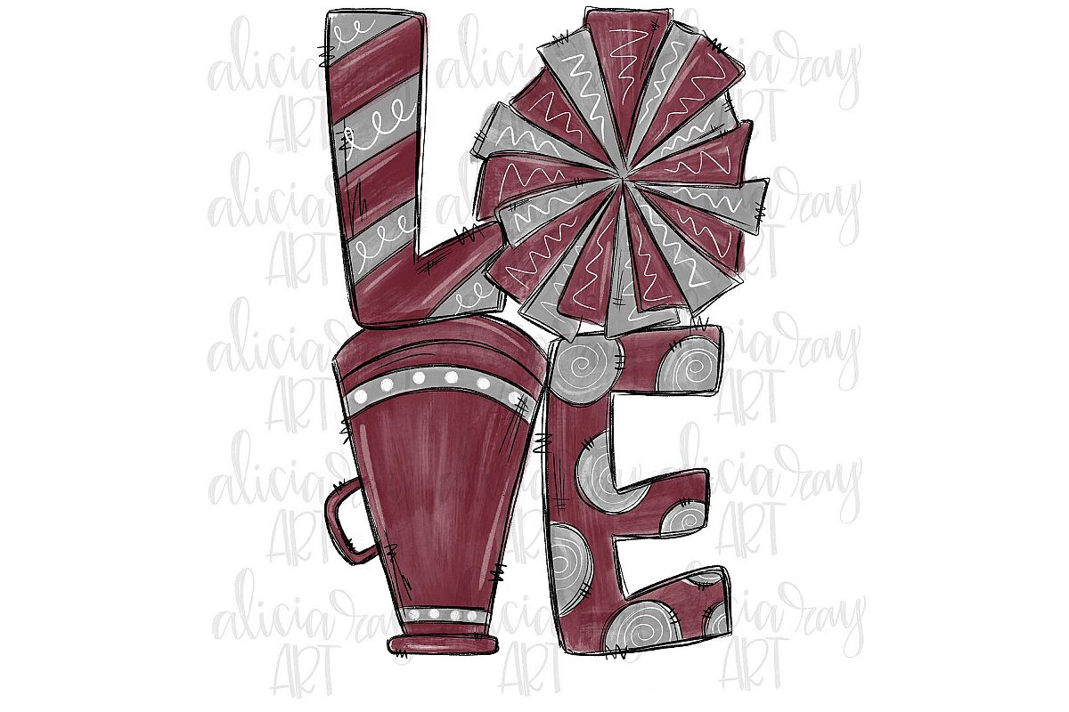 Cheer Love Maroon and Gray example image 1