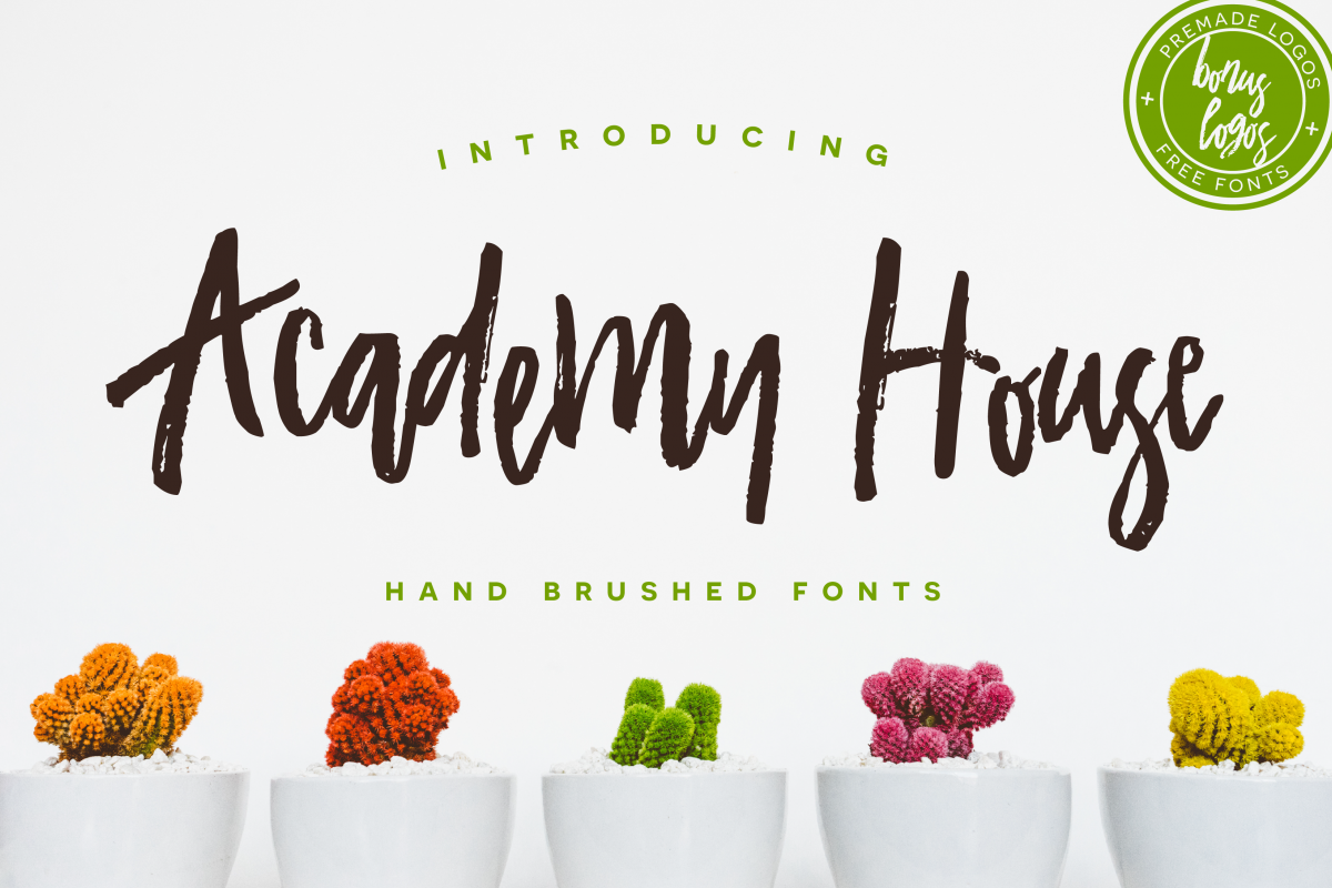Academy House Font + Logos example image 1