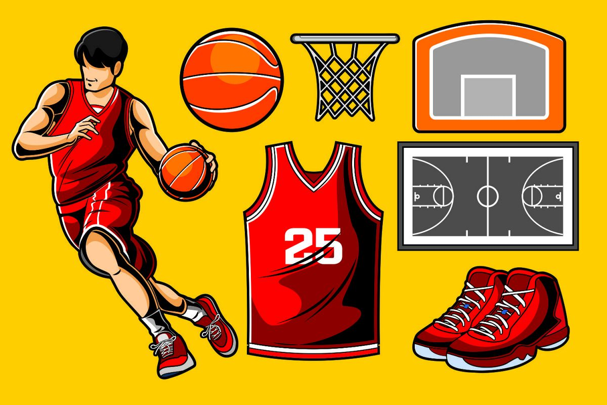 Basketball Vector Pack example image 1