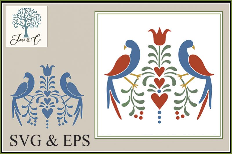 Folk Art Birds 3 example image 1