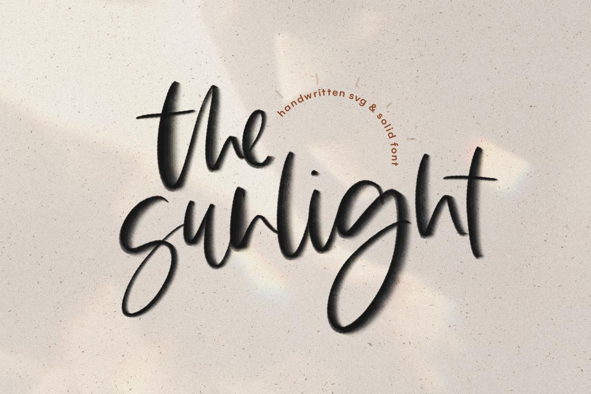 The Sunlight - A Handwritten SVG Script Font example image 1