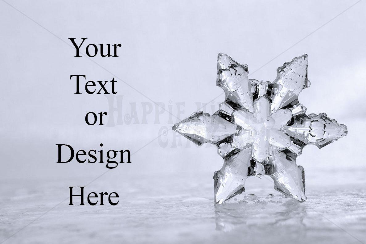 Icy Snowflake Winter Background Photo example image 1