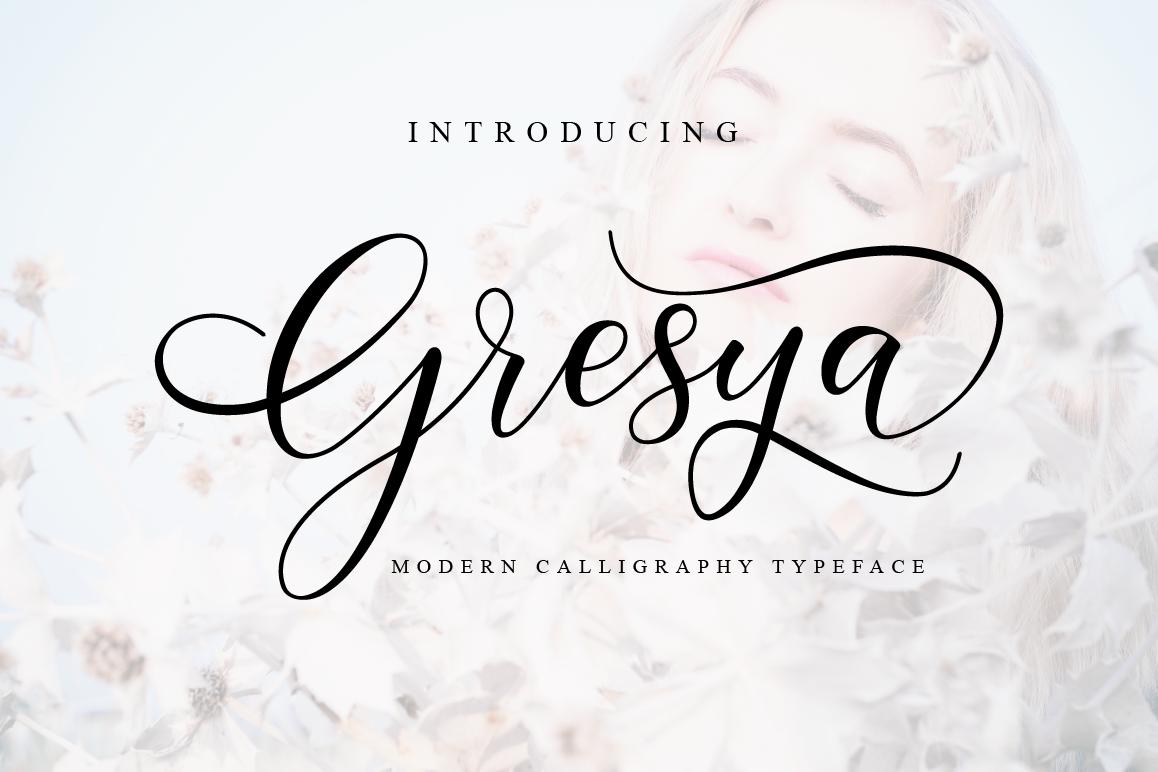 Gresya Script example image 1