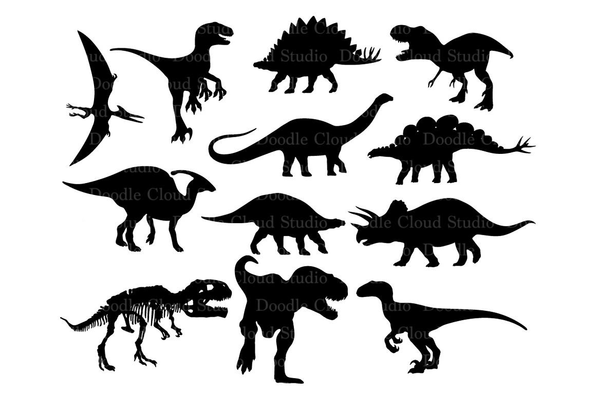 Dinosaurs SVG Dinosaur Monogram T-Rex Prehistoric Dinosaur. example image 1