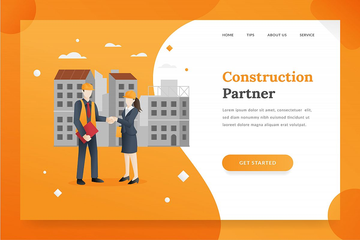 Construction landing page example image 1