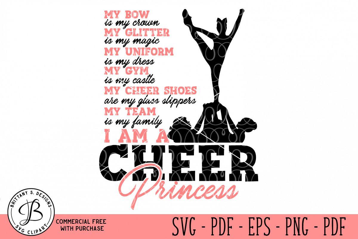 Cheer Princess SVG example image 1