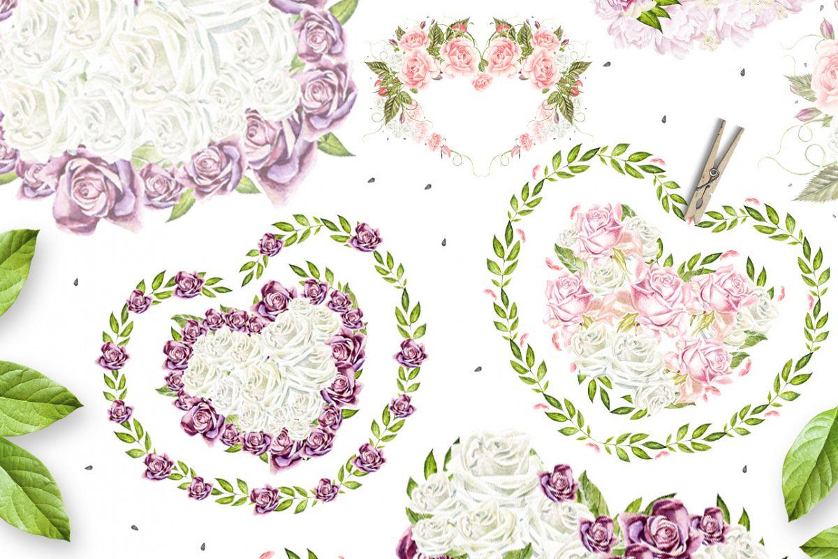 29 watercolor hearts example image 1