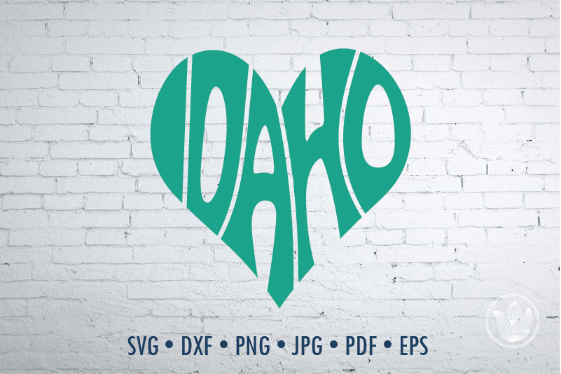 Idaho Heart Svg Dxf Eps Png Jpg Cut File
