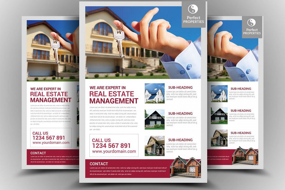 Real Estate Flyer Template example image 1