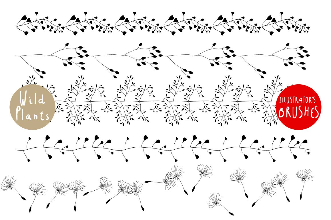 Wild Plants. Patterns and Brushes example image 1