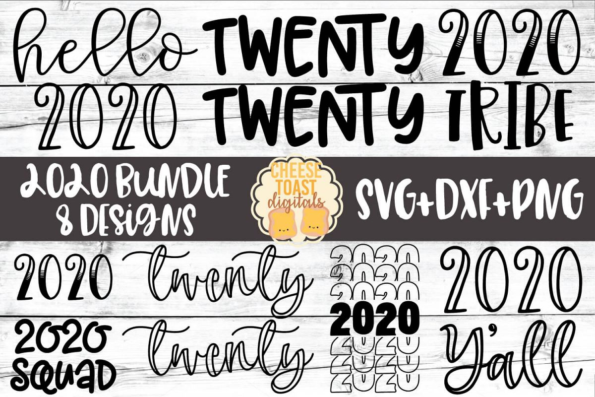 2020 Bundle - New Year SVG PNG DXF Cut Files example image 1