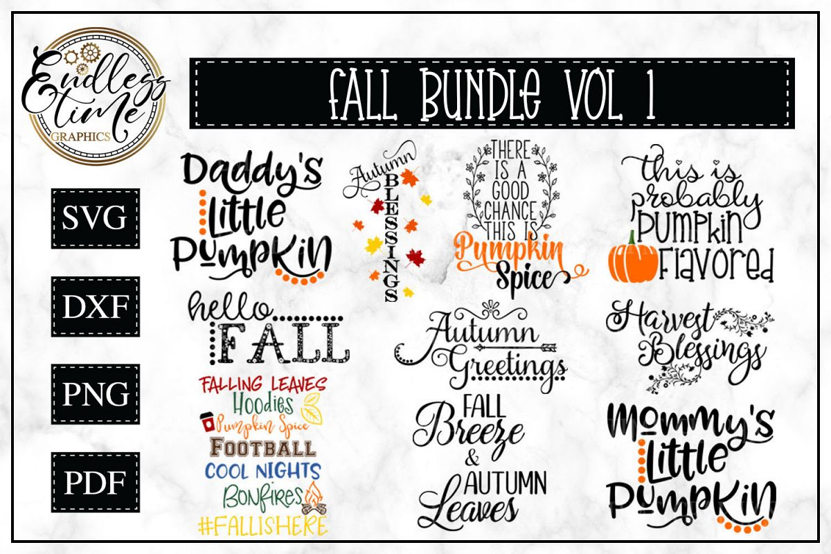 Fall SVG Bundle Volume 1 example image 1