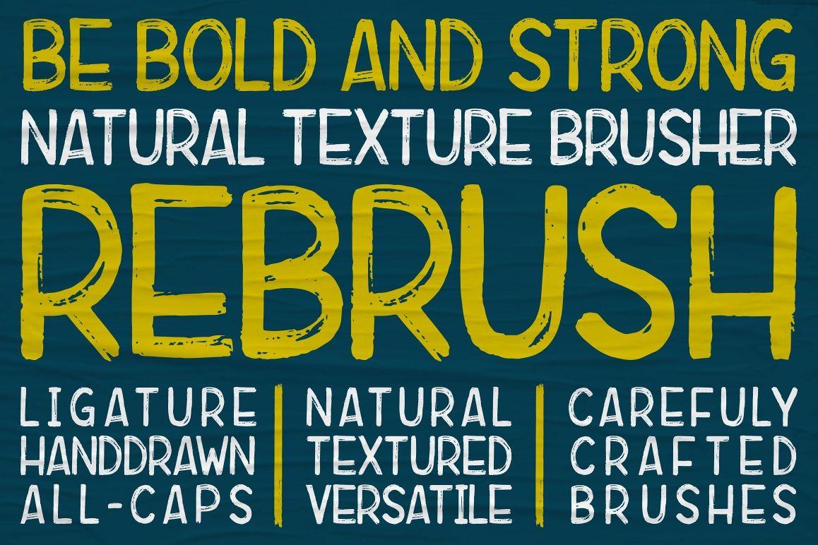 Rebrush Typeface example image 1