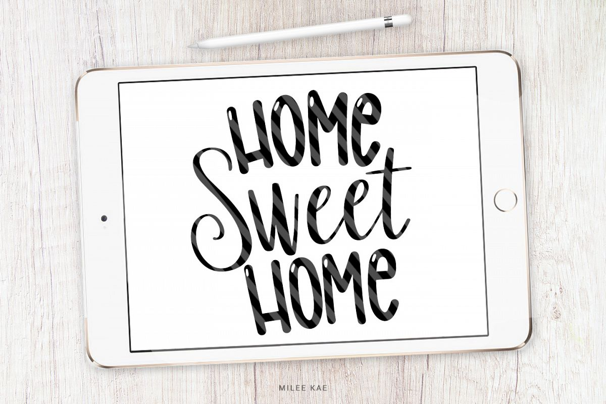 Home Sweet Home, Quote SVG, Cutting file, Decal example image 1